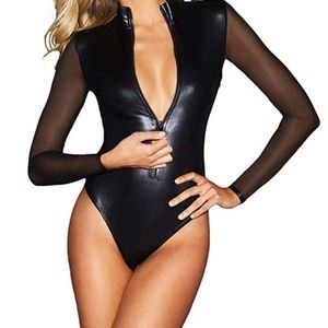 Tops - Womens Sexy Casual Party Work Bodysuit with Sleeve